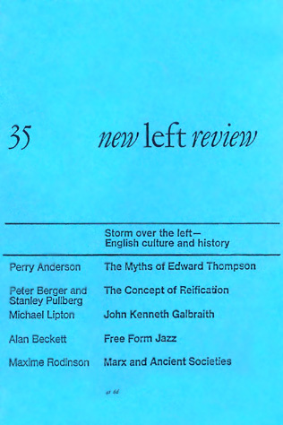 Alan Beckett, The New Wave in Jazz: Free Form, NLR I/35, January