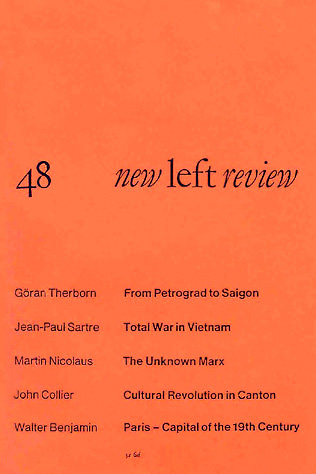Martin Nicolaus, The Unknown Marx, NLR I/48, March–April 1968